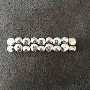 Silver Pebble Stretch Bracelet